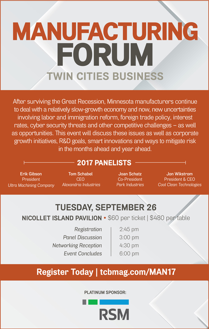 Manufacturing Forum by Twin Cities Business 2017